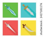isolated object of and sword...   Shutterstock .eps vector #1427181176