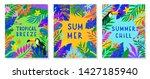 set of summer vector... | Shutterstock .eps vector #1427185940