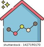 home economy graph icon... | Shutterstock .eps vector #1427190170