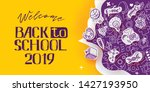 back to school banner with line ...   Shutterstock .eps vector #1427193950