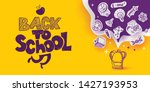 back to school banner with line ... | Shutterstock .eps vector #1427193953