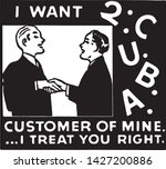 i want to c u b a customer  ... | Shutterstock .eps vector #1427200886