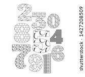 numbers and digits set in the...   Shutterstock .eps vector #1427208509