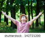successful farmer in the hat   Shutterstock . vector #142721200
