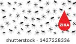 stop malaria no mosquito bite... | Shutterstock .eps vector #1427228336