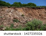 Small photo of Natural disaster. Landslide after downpour