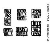 pizza inscription set. it can...