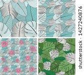 set of vector seamless patterns ... | Shutterstock .eps vector #1427240876