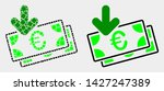 dotted and flat euro banknotes... | Shutterstock .eps vector #1427247389