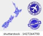air plane vector new zealand... | Shutterstock .eps vector #1427264750