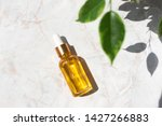 Serum In Glass Bottle On Marble ...