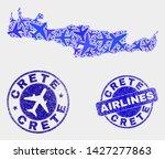 aircraft vector crete map...   Shutterstock .eps vector #1427277863
