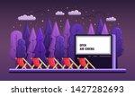 vector open air cinema. flat... | Shutterstock .eps vector #1427282693
