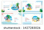 family vacation on summer... | Shutterstock .eps vector #1427283026