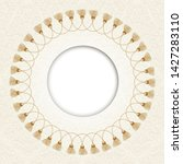 round gold luxury style border... | Shutterstock .eps vector #1427283110