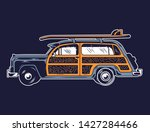 vintage graphic old school car... | Shutterstock .eps vector #1427284466