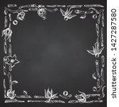 ashwagandha hand drawn border...   Shutterstock .eps vector #1427287580