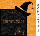 halloween card or background. | Shutterstock . vector #142730494