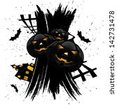 grungy halloween background... | Shutterstock . vector #142731478