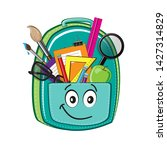 blue backpack with eyes with...   Shutterstock .eps vector #1427314829