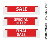 sale banner. sticker or...   Shutterstock .eps vector #1427322140