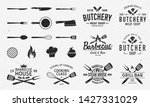 collection of butchery ... | Shutterstock .eps vector #1427331029