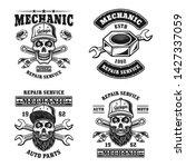 repair service and mechanic set ... | Shutterstock .eps vector #1427337059