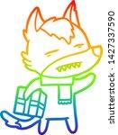 rainbow gradient line drawing... | Shutterstock .eps vector #1427337590