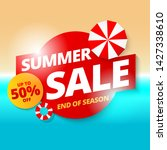 summer sale banner template...   Shutterstock .eps vector #1427338610