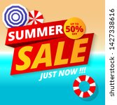 summer sale banner template...   Shutterstock .eps vector #1427338616