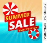 summer sale banner template...   Shutterstock .eps vector #1427338619