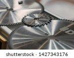 metal gear wheels close up.   Shutterstock . vector #1427343176