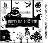 halloween icons set. | Shutterstock . vector #142735090