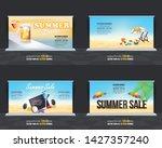 summer season vector background.... | Shutterstock .eps vector #1427357240