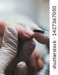 manicure  process of applying...   Shutterstock . vector #1427367050