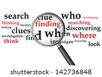 a magnifying glass over a... | Shutterstock .eps vector #142736848