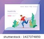 running boy vector illustration ... | Shutterstock .eps vector #1427374850