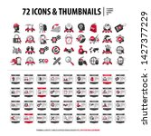 vector set of icons and web...