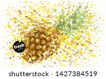 pineapple with a splash of...   Shutterstock .eps vector #1427384519