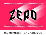 isometric 3d font design  three ... | Shutterstock .eps vector #1427387903