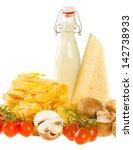 italian pasta dish ingredients... | Shutterstock . vector #142738933