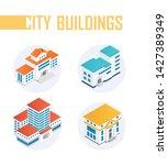public city buildings   modern...   Shutterstock .eps vector #1427389349