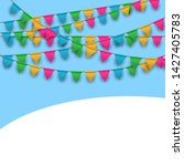 vector carnival background with ... | Shutterstock .eps vector #1427405783