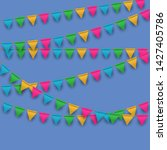 vector carnival background with ... | Shutterstock .eps vector #1427405786