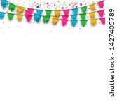 vector carnival background with ... | Shutterstock .eps vector #1427405789