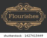 decorative frame with beautiful ... | Shutterstock .eps vector #1427415449