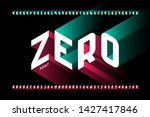 isometric 3d font design  three ... | Shutterstock .eps vector #1427417846