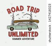 road trip summer adventure... | Shutterstock .eps vector #1427418323