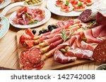 italian prosciutto  cured pork... | Shutterstock . vector #142742008