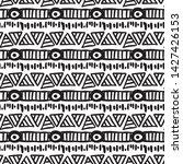 seamless aztec vector pattern.... | Shutterstock .eps vector #1427426153